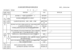 内部质量体系审核检查表.doc