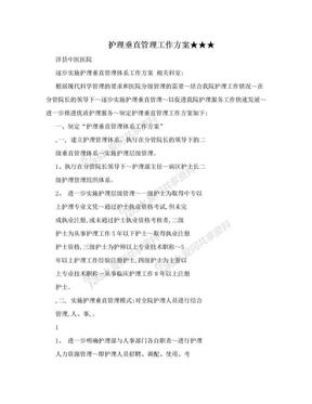 护理垂直管理工作方案★★★.doc