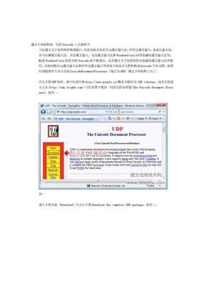 藏文字体转换统一代码Unicode工具.doc