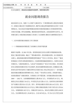 寒假社会实践调查报告——就业问题调查报告.doc