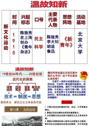 部编人教版八年级上历史课件第13课-五四运动(共41张PPT).pptx