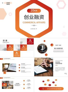 红色创业融资计划书PPT模板.pptx