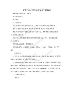 新湘教版小学美术五年级下册教案.doc
