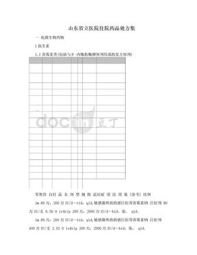 山东省立医院住院药品处方集.doc