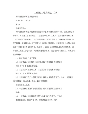工程施工进度报告 (1).doc