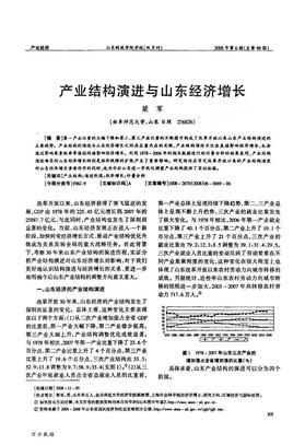 产业结构演进与山东经济增长.pdf