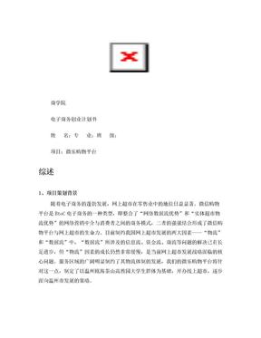 电子商务创业计划书.doc