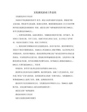 文化惠民活动工作总结.doc