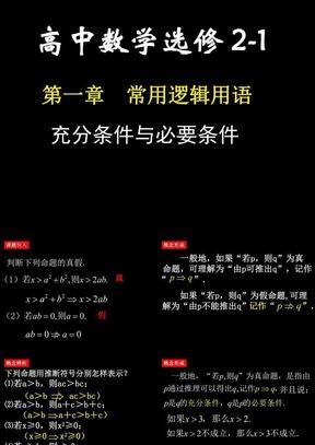 1.2充分条件与必要条件课件ppt人教A版(选修2-1).ppt