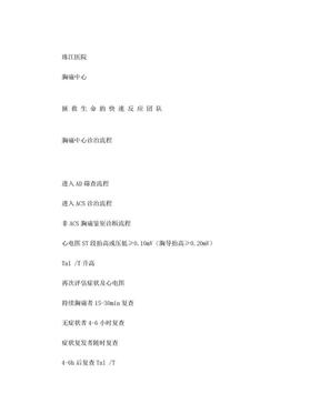 胸痛中心救治流程图(最终版).doc