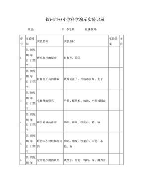 小学学科学演示实验记录.doc