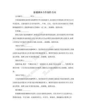 影视剧本合作创作合同.doc