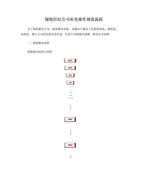 保险经纪公司业务操作规范流程.doc