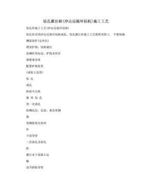 钻孔灌注桩(冲击反循环钻机)施工工艺.doc