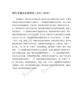 大喀什发展规划.doc