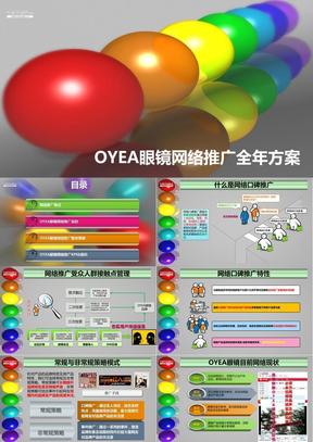 OYEA眼镜社会化媒体网络推广全年方案.ppt