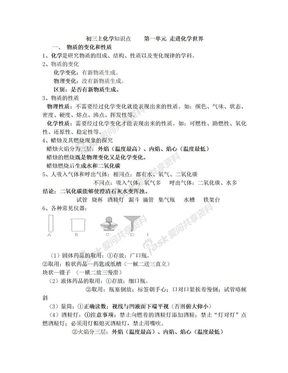 初三化学1-7单元知识点.doc