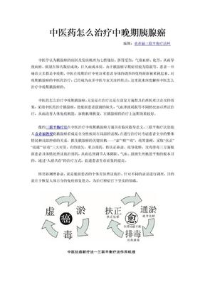 中医药怎么治疗中晚期胰腺癌.doc