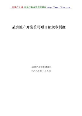 某房地产开发公司项目部规章制度.doc