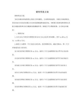销售奖惩方案.doc