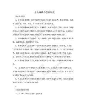 十八项核心医疗制度.doc