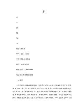 电子商务专业职业生涯规划书.doc