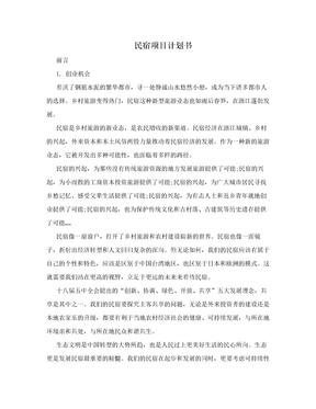 民宿项目计划书.doc