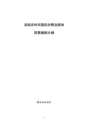 县级农村河道综合整治规划编制大纲.doc