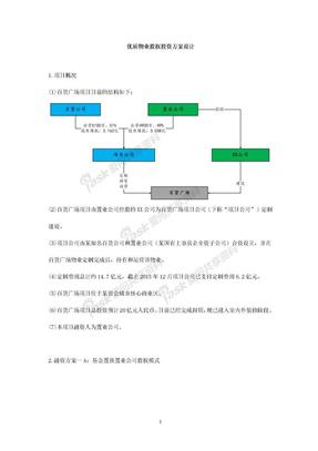 优质物业股权投资方案设计-在行文库.doc