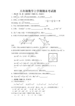 人教版八年级数学上册期末试卷.doc