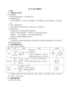 高中必修一数学知识点总结.pdf
