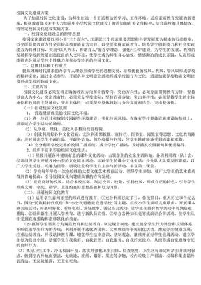 小学校园文化建设方案.doc