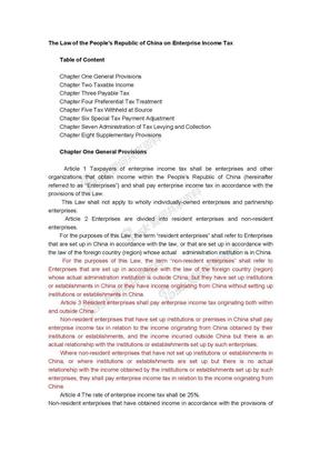 企业所得税 英文版.doc