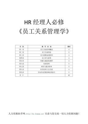 HR经理人必修-员工关系管理.doc