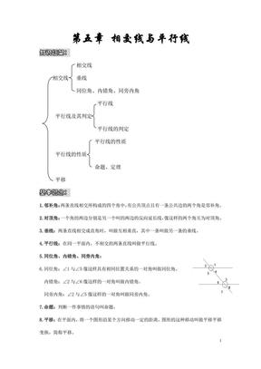 新人教版七年级数学下册知识点框架总结.pdf
