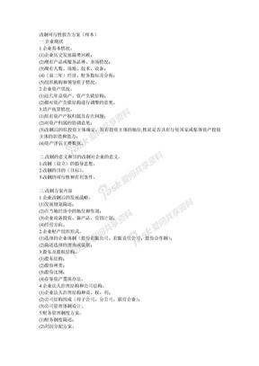 改制可行性报告方案.doc