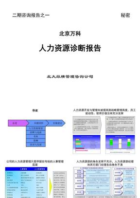 北京万科-人力资源诊断报告..ppt