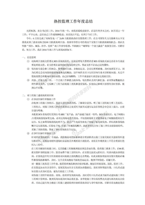 2016年热控监理工作总结.doc