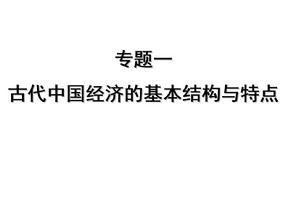高中历史必修二专题一(复习).ppt