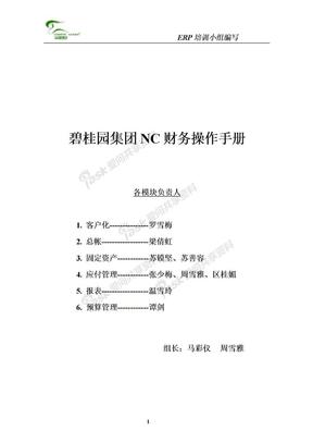 碧桂园集团NC财务操作手册(85)页.doc
