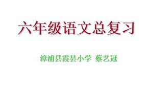 六年级语文复习课件.ppt