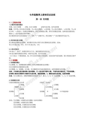 2018人教版七年级上册数学知识点梳理汇总.pdf