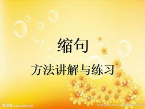 四年级缩句讲解与练习.ppt.ppt