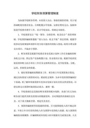 学校财务预算管理规章制度.doc.doc