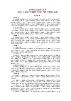素食馆运营融资商业计划书.docx
