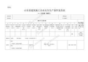 山东省建筑施工企业安全生产条件复查表修改版.doc