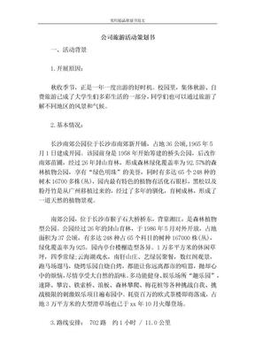 公司旅游活动策划书-策划书范文.doc