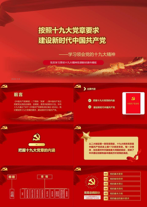学习新党章按照十九届大党章要求建设新时代中国共产党课件.pptx