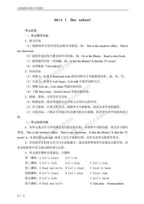 小学四年级英语下册教案人教版.doc