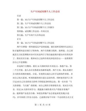 生产车间试用期个人工作总结(多篇范文)(1).doc